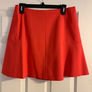 J. Crew a-line crepe mini skirt red size 8